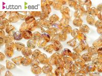 BB-00030/98532 Crystal Rainbow Brown Button Beads * BUY 1 - GET 1 FREE *