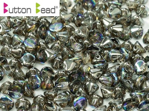 BB-00030/98537 Crystal Rainbow Graphite Button Beads * BUY 1 - GET 1 FREE *