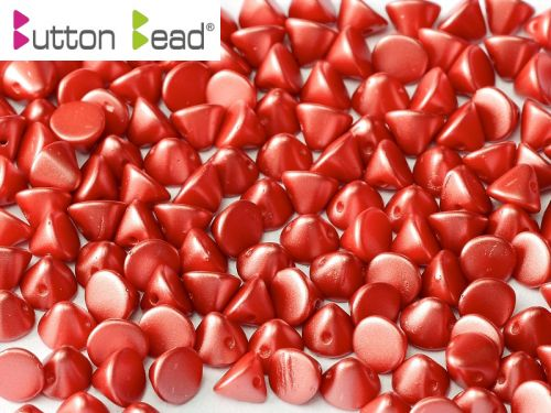 BB-25010 Pastel Pearl Dark Coral Button Beads