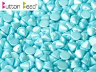 BB-25019 Pastel Pearl Turquoise Button Beads * BUY 1 - GET 1 FREE *
