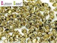 BB-26440 Amber Full (Gold) Button Beads * BUY 1 - GET 1 FREE *