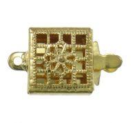 Box Clasp Gold 1 strand 9mm