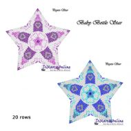 Tutorial Baby Bottle (Pink & Blue) 3D Peyote Star + Basic Tutorial Little 3D Peyote Star (download link per e-mail)