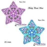 Tutorial Baby Pram (Pink & Blue) 3D Peyote Star + Basic Tutorial Little 3D Peyote Star (download link per e-mail)
