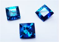 SQ12 Bermuda Blue Square 12 mm Preciosa