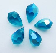 PD681 Blue Zircon AB Matte Drop 10x6 Preciosa