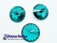 R14 Blue Zircon Rivoli 14 mm Preciosa