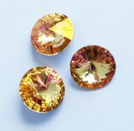 1122 Crystal Brandy Rivoli 14 mm Swarovski