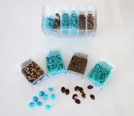 Mos-BT Bronze/Turquoise Shiny Mosaic Bead & Chaton Pack - Akke Jonkhof
