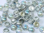 C2-00030/98530 Crystal Rainbow Silver 2-Hole Cabochons