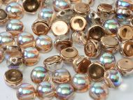 C2-00030/98533 Crystal Rainbow Copper 2-Hole Cabochons