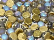 C2-00030/98586 Etched Crystal Rainbow Gold 2-Hole Cabochons