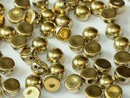 C2-26440 Amber Full (Gold) 2-Hole Cabochons