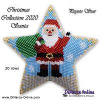Tutorial Christmas Collection 2020 Santa - 3D Peyote Star + Basic Tutorial (download link per e-mail)