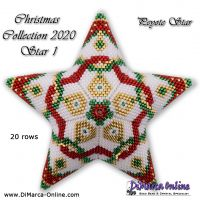 Tutorial Christmas Collection 2020 Star 1 - 3D Peyote Star + Basic Tutorial (download link per e-mail)