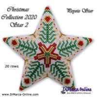 Tutorial Christmas Collection 2020 Star 2 - 3D Peyote Star + Basic Tutorial (download link per e-mail)