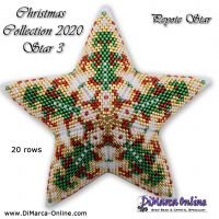 Tutorial Christmas Collection 2020 Star 3 - 3D Peyote Star + Basic Tutorial (download link per e-mail)