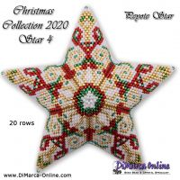 Tutorial Christmas Collection 2020 Star 4 - 3D Peyote Star + Basic Tutorial (download link per e-mail)
