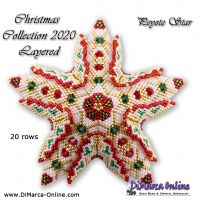 Tutorial Christmas Collection 2020 Layered Star 3D Peyote Star + Basic Tutorial (download link per e-mail)