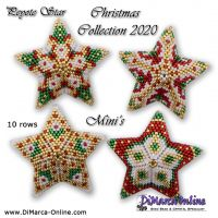 Tutorial Christmas Collection 2020 Minis x 4 - 3D Peyote Star + Basic Tutorial (download link per e-mail)
