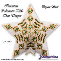 Tutorial Christmas Collection 2020 Tree Topper 3D Peyote Star + Basic Tutorial (download link per e-mail)