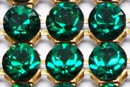 40001 Emerald in Gold HF Crystal Mesh Swarovski
