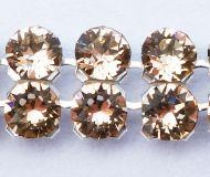 40001 Licht Peach in Silver NHF Crystal Mesh Swarovski