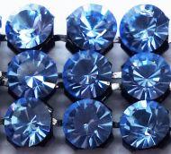 40001 Sapphire Light in Black NHF Crystal Mesh Swarovski