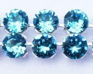 40001 Light Turquoise in Silver NHF Crystal Mesh Swarovski
