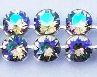 40001 Crystal Paradise Shine in Silver NHF Crystal Mesh Swarovski
