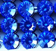 40001 Sapphire in Black NHF Crystal Mesh Swarovski