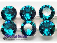 40001 Blue Zircon in Silver NHF Crystal Mesh Swarovski