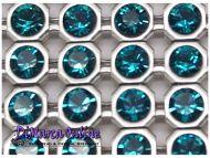 40001 Dark Turquoise in Silver NHF (Vintage Setting) Crystal Mesh Swarovski