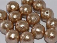 CP-J685 Beige 12 mm Cotton Pearls Miyuki - 5 x