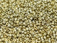 11-26480 Etched Amber Full (Gold) 11/0 Czech Seed Beads * BUY 1 - GET 1 FREE *