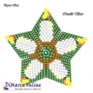 FREE E-TUTORIAL 11 rows - Candle 3D Peyote Star (download link per e-mail)