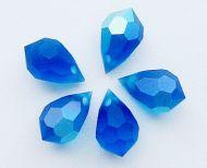 PD681 Capri Blue AB Matte Drop 10x6 Preciosa