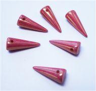 SPK17-03000/14495 Chalk Red Lumi Spikes 7x17 mm