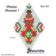 Tutorial Christmas Ornament 1 - 3D Peyote Pod + Basic Tutorial Little 3D Peyote Pod (download link per e-mail)