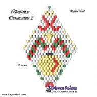 Tutorial Christmas Ornament 2 - 3D Peyote Pod + Basic Tutorial Little 3D Peyote Pod (download link per e-mail)