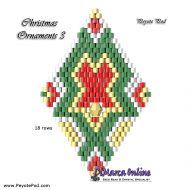 Tutorial Christmas Ornament 3 - 3D Peyote Pod + Basic Tutorial Little 3D Peyote Pod (download link per e-mail)