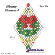 Tutorial Christmas Ornament 4 - 3D Peyote Pod + Basic Tutorial Little 3D Peyote Pod (download link per e-mail)