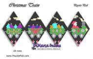 Tutorial Christmas Train 3D Peyote Pod + Basic Tutorial Little 3D Peyote Pod (download link per e-mail)