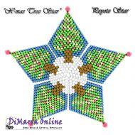 FREE TUTORIAL 15 rows - Christmas Tree 3D Peyote Star (download link per e-mail)