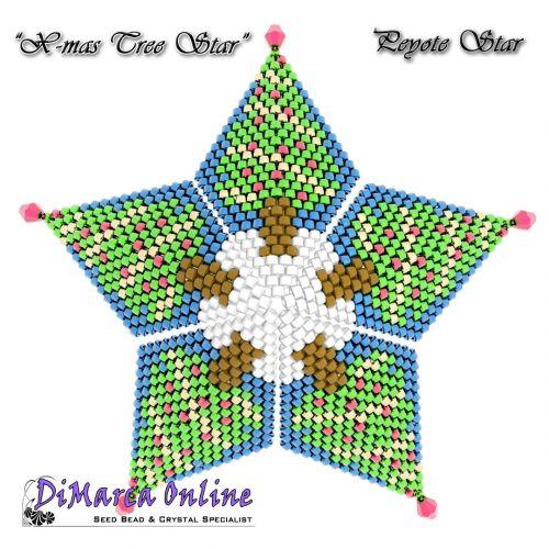 FREE TUTORIAL Christmas Tree 3D Peyote Star (download link per e-mail)