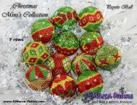 Tutorial 07 rows - Christmas Mini Collection 12 x Peyote Ball incl. Basic Tutorial (download link per e-mail)