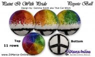 Tutorial 11 rows - Paint it With Pride Peyote Ball incl. Basic Tutorial (download link per e-mail)