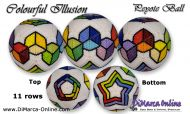 Tutorial 11 rows - Colourful Illusion Peyote Ball incl. Basic Tutorial (download link per e-mail)