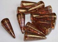 SPK17-00030/15695 Crystal Bronze Lumi Spikes 7x17 mm