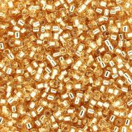 DB0042 Silver-Lined Gold Delica 11/0 Miyuki - 50 grams WHOLESALE PACKAGE